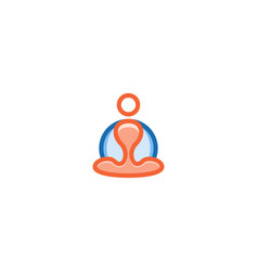 people cross-legged yoga logo designs inspiration vector image