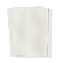 Pile of notebook squared sheets of paper isolated vector