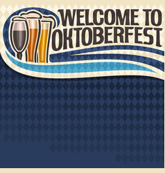poster for oktoberfest text vector image