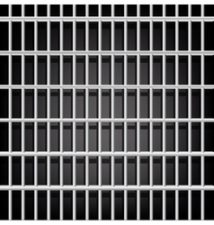 Prison grid on black vector image