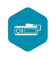 Radio taxi icon simple style vector