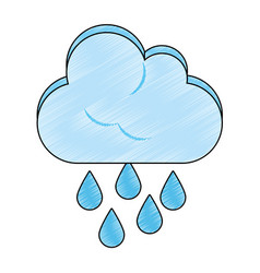 Rainy weather symbol vector