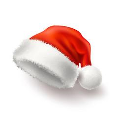 realistic santa christmas holiday 3d hat vector image