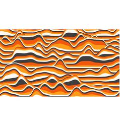Retro orange stripes distorted backdrop vector