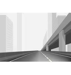 Road in a town vector