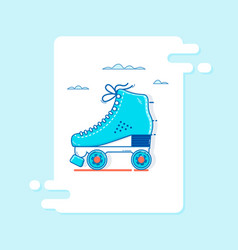 roller skate icon thin line for web and mobile vector image