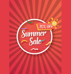 sale poster paper lettering bright sale flyer vector image