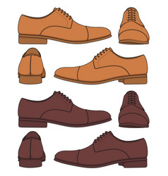 Set with classic mens shoes vector