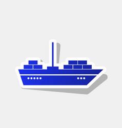 Ship sign new year bluish vector