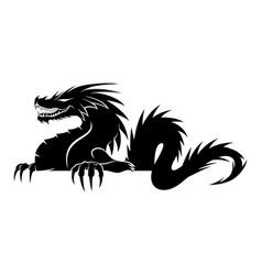 sign a black dragon vector image
