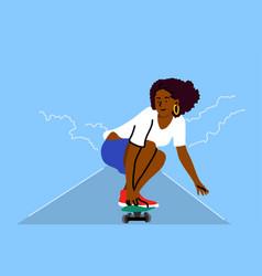 Skateboarding sport recreation summertime vector