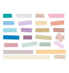 Sticky strips colored decorative tape mini washi vector