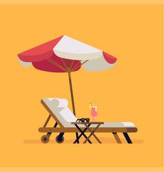 summer beach design element vector image