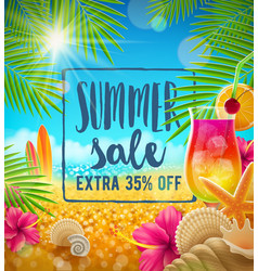 summer sale design vector image