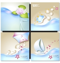 Summer vacation design set vector image