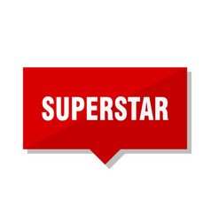 Superstar red tag vector