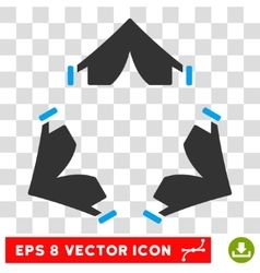 Tent Camp Round Eps Icon vector