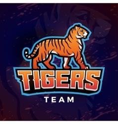 Tiger mascot Sport logo design template vector image