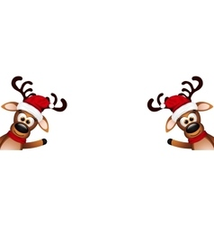 Two funny reindeer on a white background vector image
