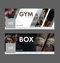 universal advertising template banner for social vector image