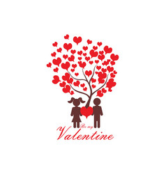valentines day love logo icon concept vector image