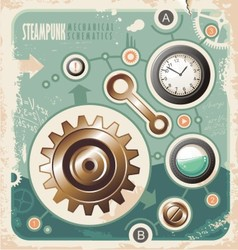 Vintage industrial info graphic vector