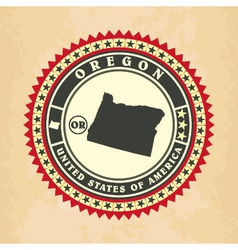 Vintage label-sticker cards of Oregon vector