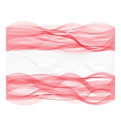 Wave line flag of Austria vector
