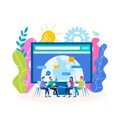webinar social media marketing trainings vector image