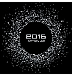White - Black New Year 2016 Background vector