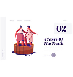 Winemaking process harvest festival website vector