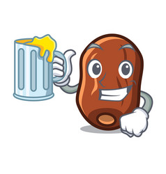 With juice dates fruit mascot cartoon vector