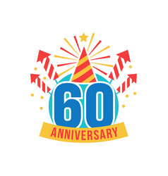 anniversary sixty years number vector image