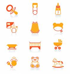 baby icons juicy series vector image vector image