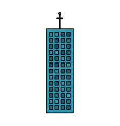 building company office skyscraper vector image vector image