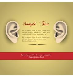 Human ears vector image vector image