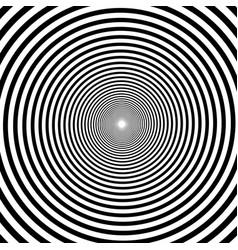 hypnotic spiral background volute spiral vector image