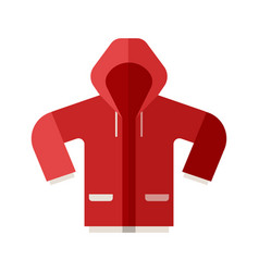 red sport jacket icon vector image