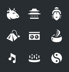 set of india icons vector image vector image
