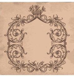 Vintage royal card vector image