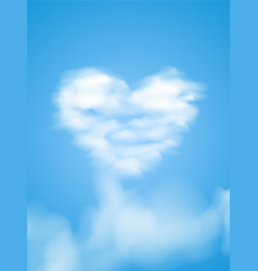 card for cloud valentines heart vector image vector image