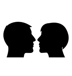 Couple silhouette man and woman vector image