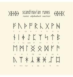 Rune alphabet Occult ancient symbols vector image