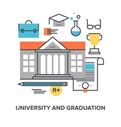 university and graduation vector image