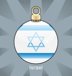 Israel bulb vector image vector image