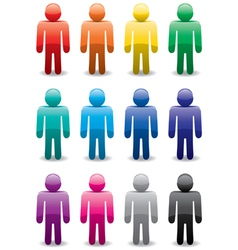 man symbols vector image vector image