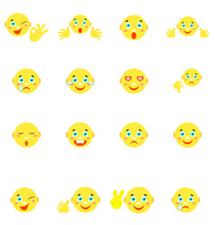 Smilies with different emotions and gestures vector