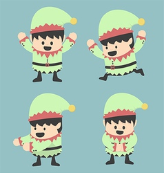 Christmas Elves and different poses vector image