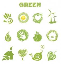 green theme vector image vector image