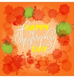 Happy Thanksgiving Day lettering vector image